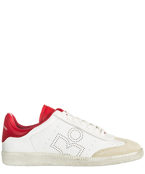 Turnschuhe Isabel Marant Bryce BK0029 70RD white - red