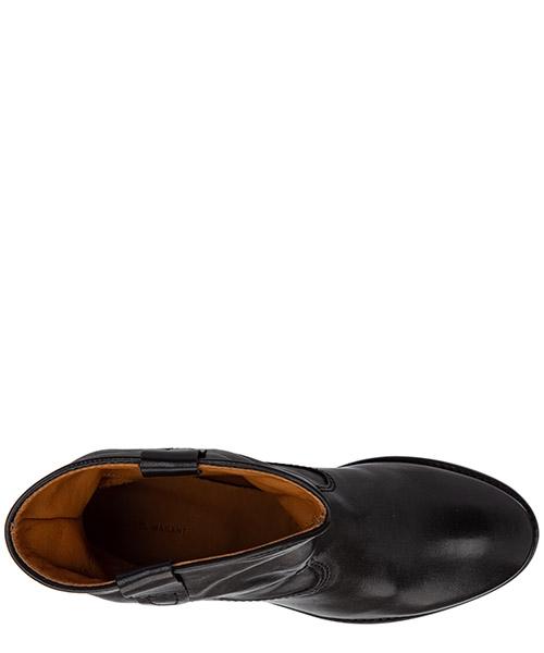 Stivaletti stivali donna damen leder stiefeletten stiefel'ankle boots cluster secondary image
