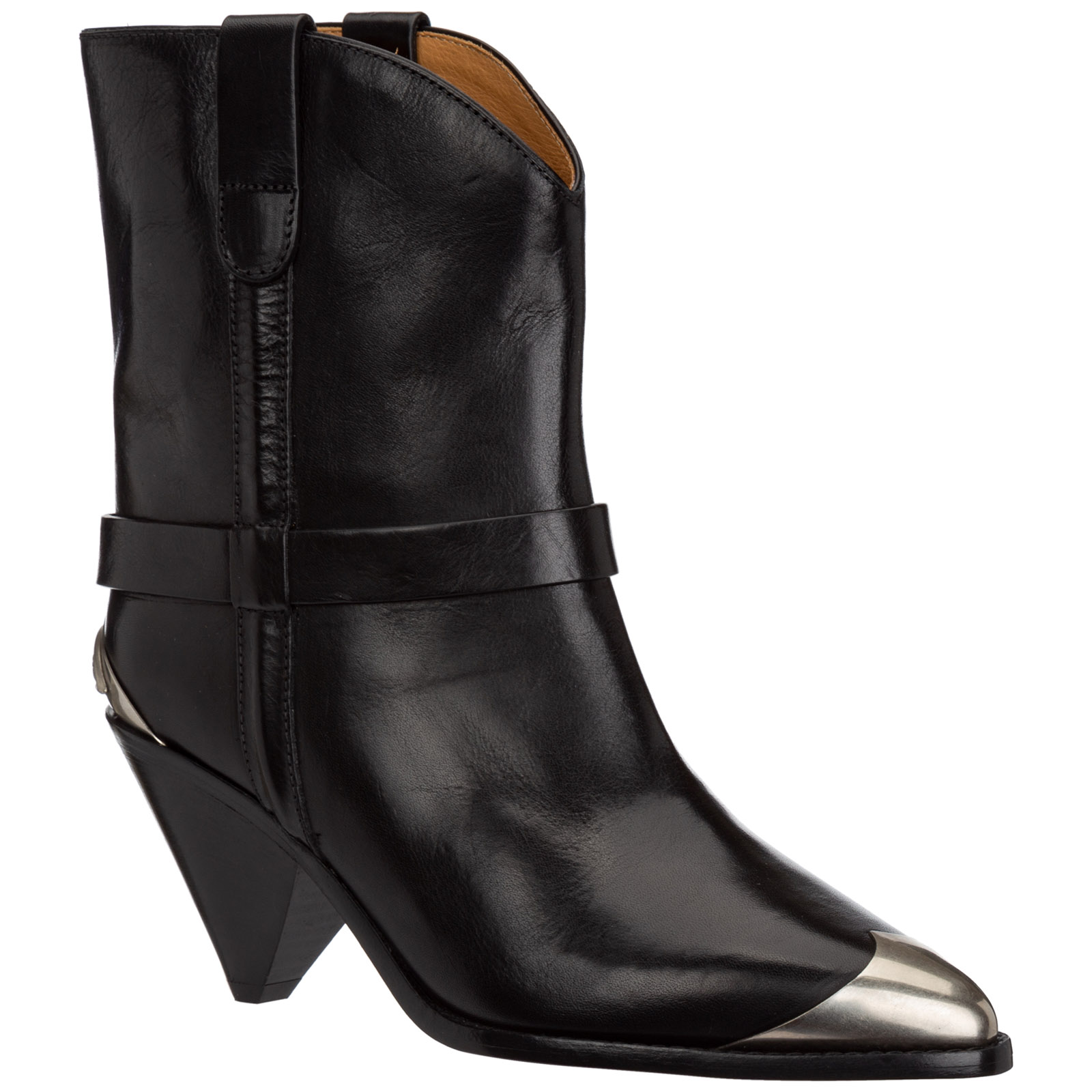 Women's leather heel'ankle boots booties limza