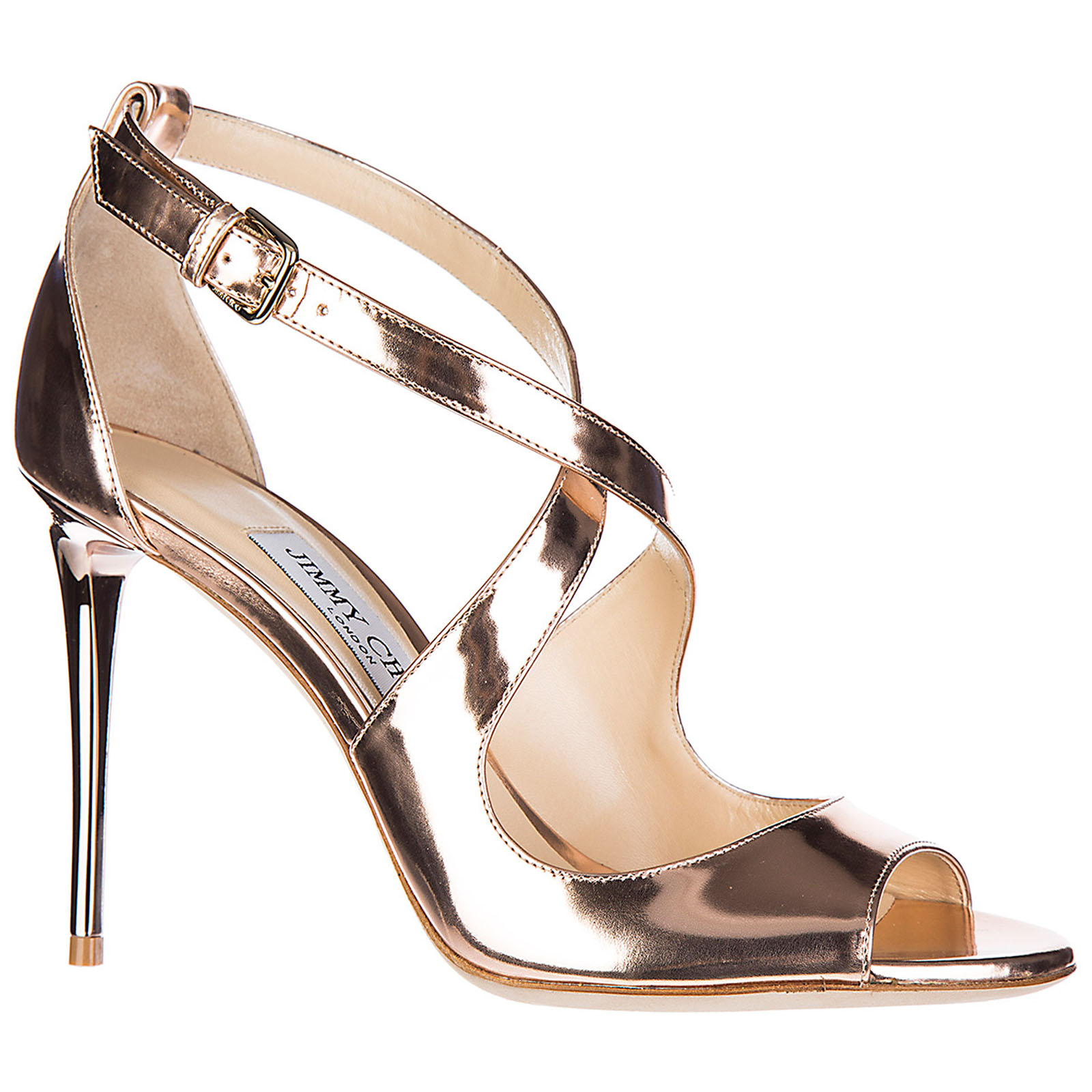 Women's leather heel sandals emily