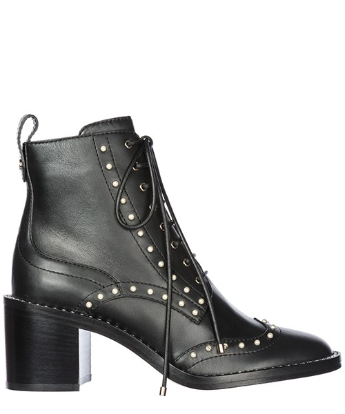 cba34c5be Heeled ankle boots Jimmy Choo Hanah 65 HANAH 65 nero Women's leather heel  ...