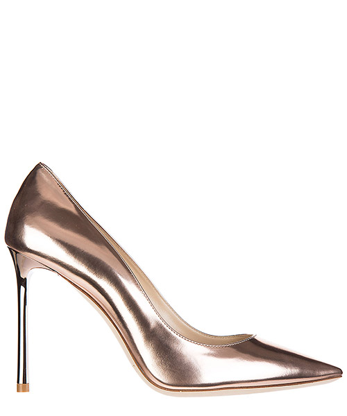 Women's leather pumps court shoes high heel romy