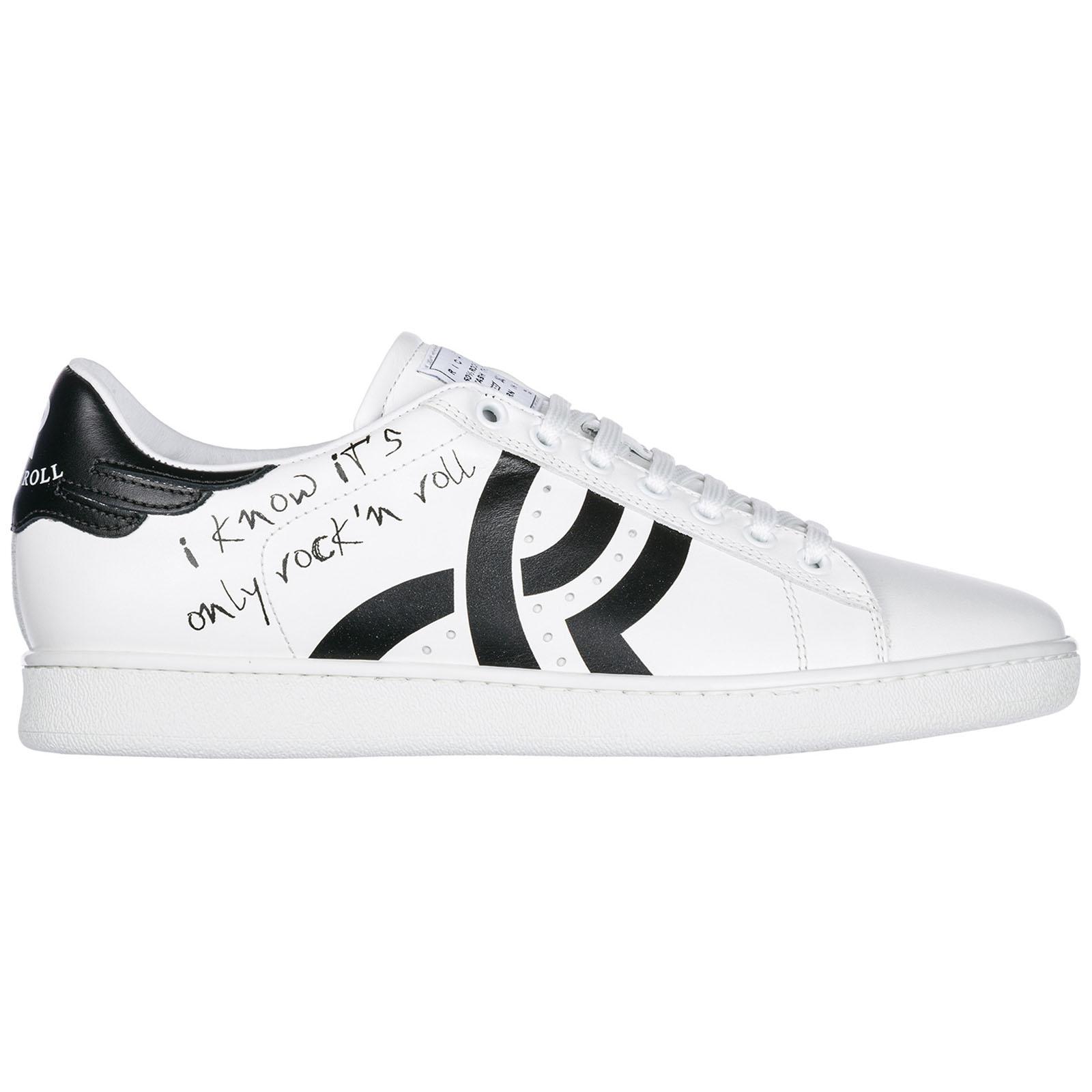 Scarpe sneakers uomo in pelle logo