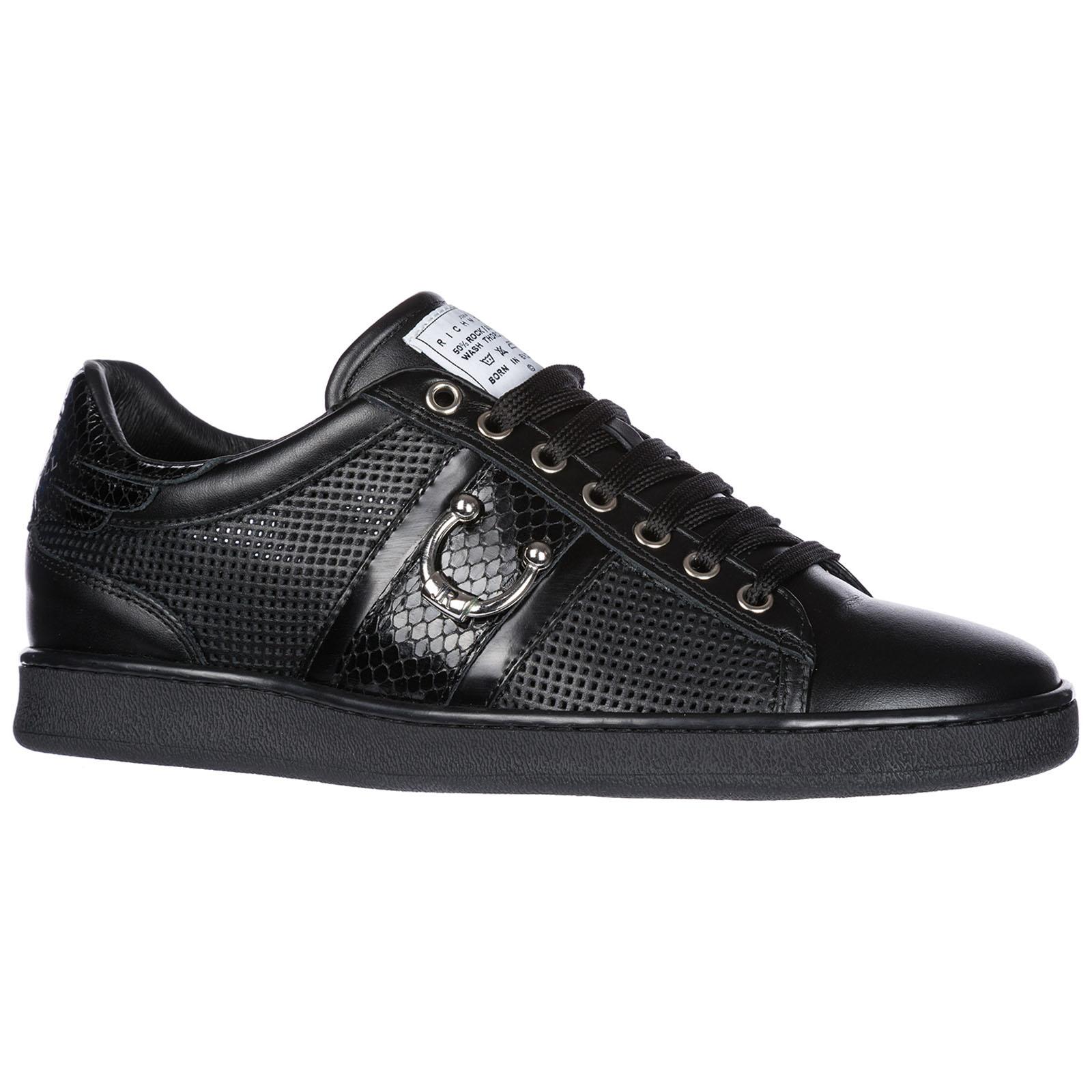 sports shoes 391c2 785db Scarpe sneakers uomo in pelle piercing