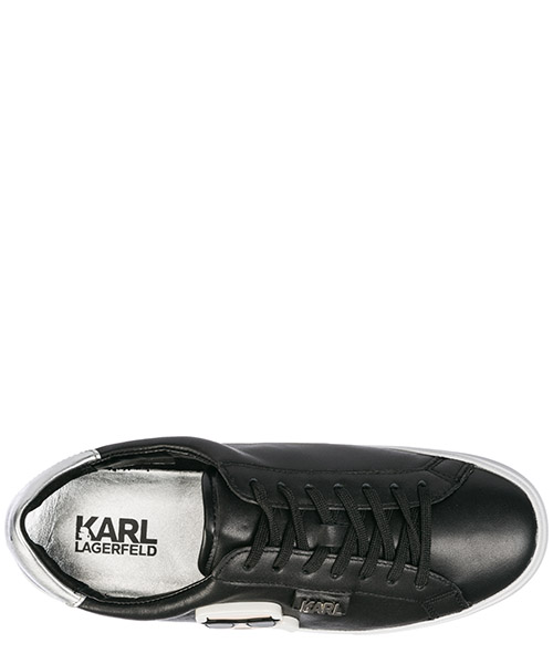 Women's shoes leather trainers sneakers ikonik secondary image