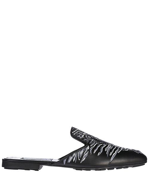 Mules sandales chaussons femme en cuir ì