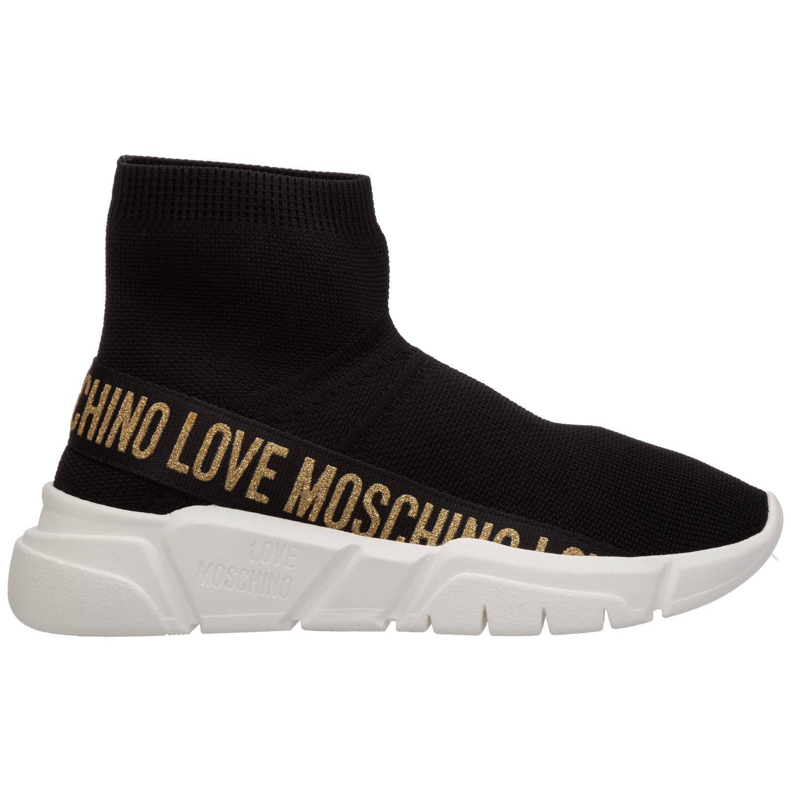 Love Moschino WOMEN'S SHOES HIGH TOP TRAINERS SNEAKERS