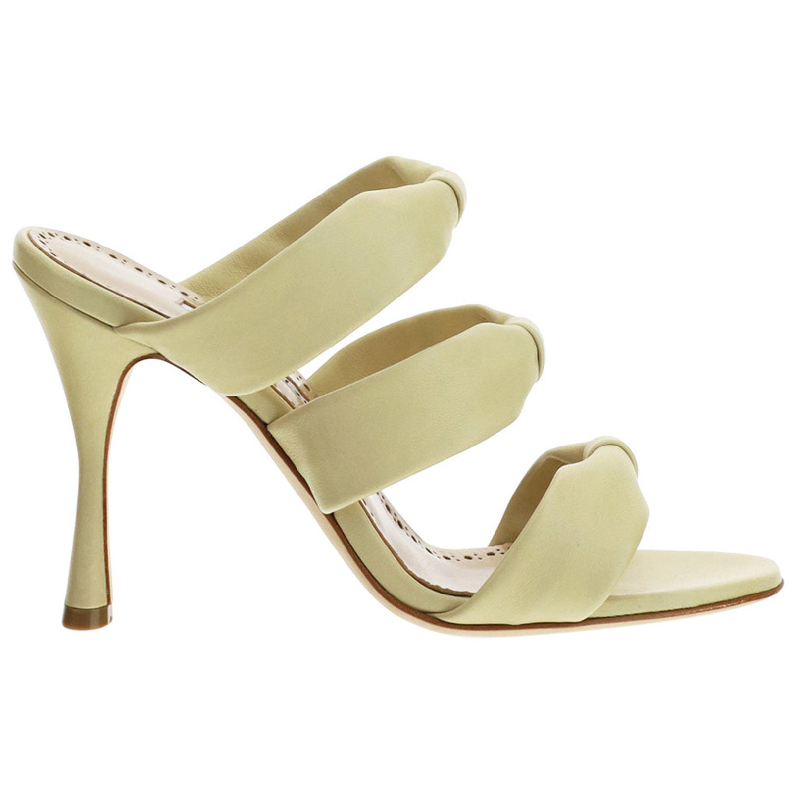 Manolo Blahnik High heels WOMEN'S LEATHER HEEL SANDALS