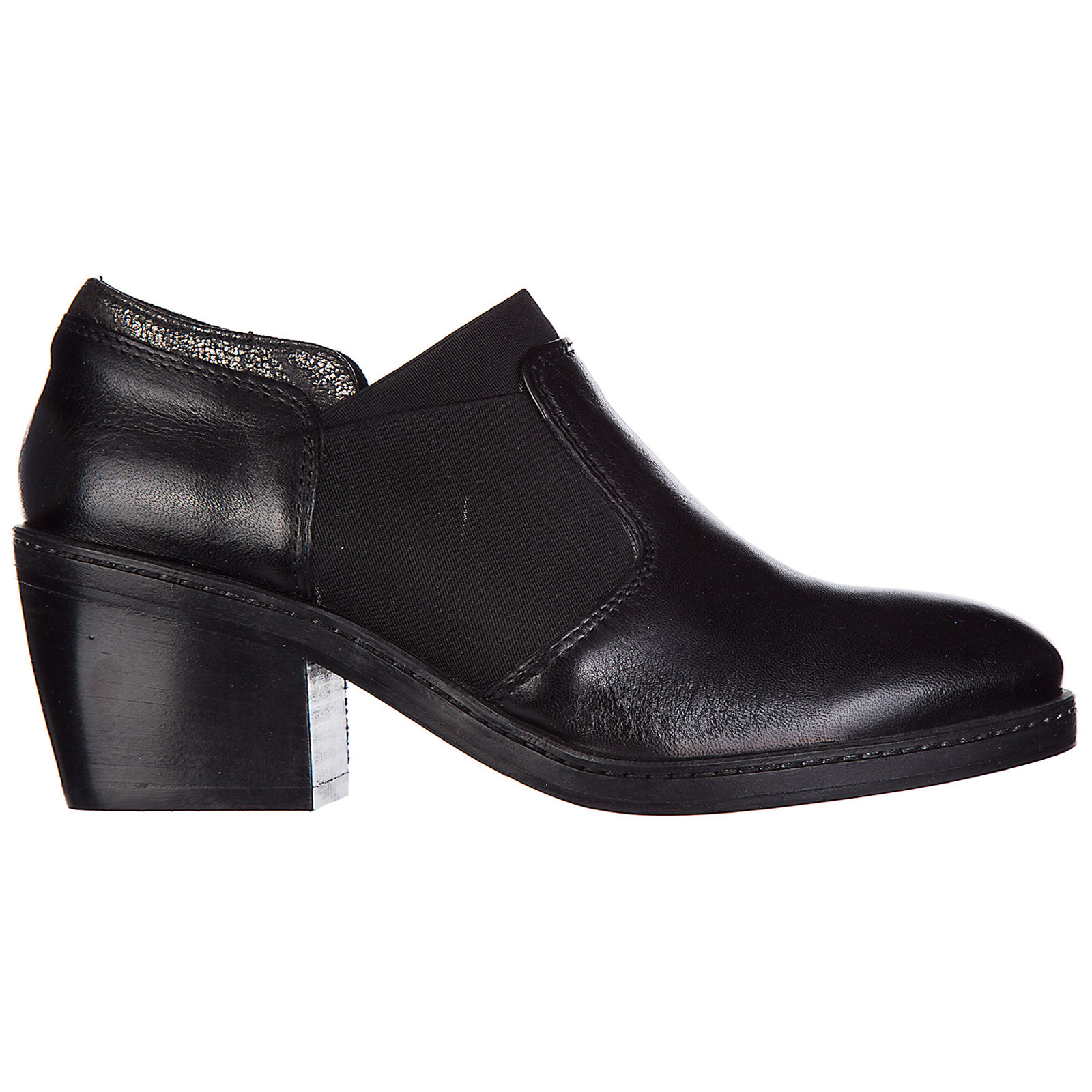 Demi bottes femme à talon en cuir tekila