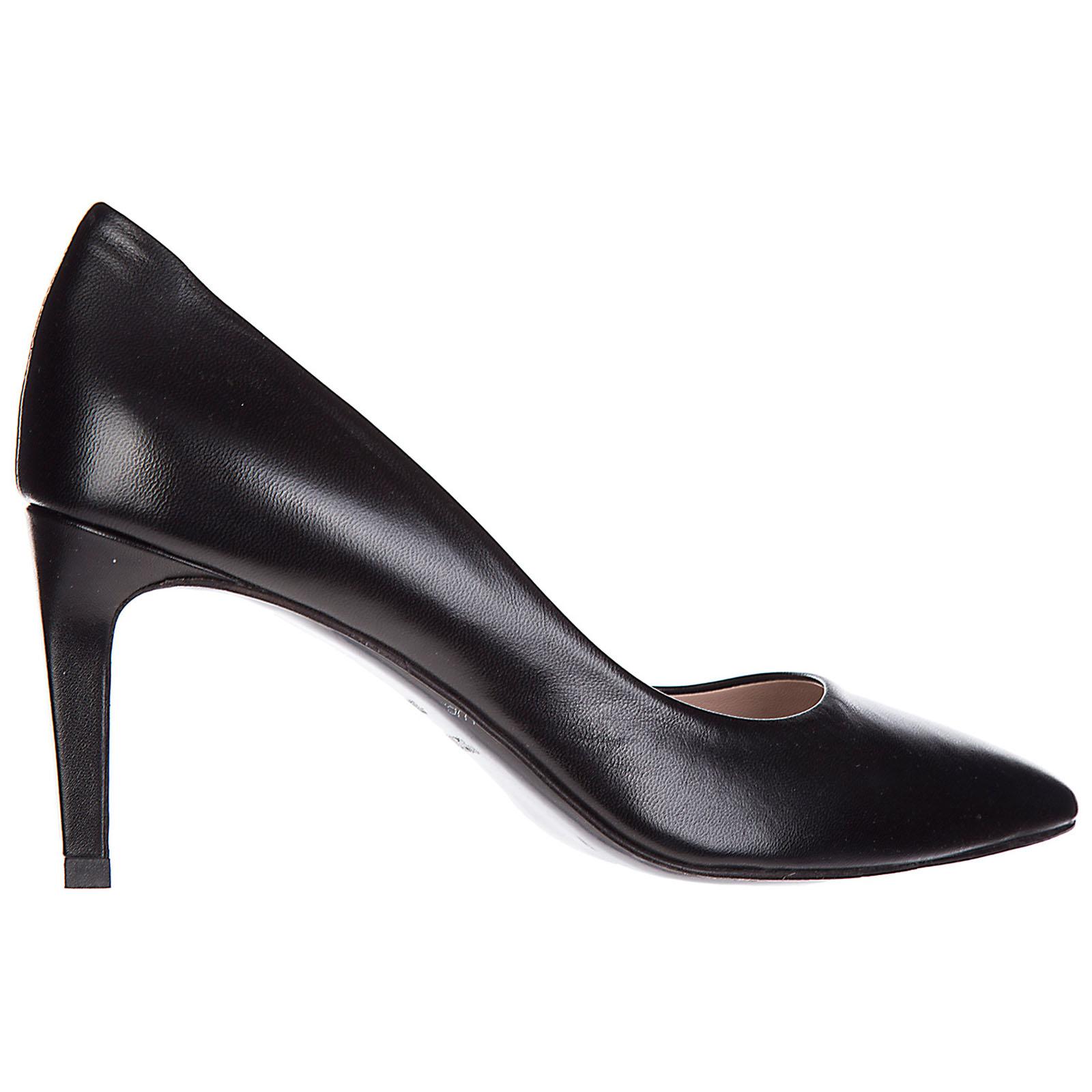 Damenschuhe leder pumps mit absatz high heels