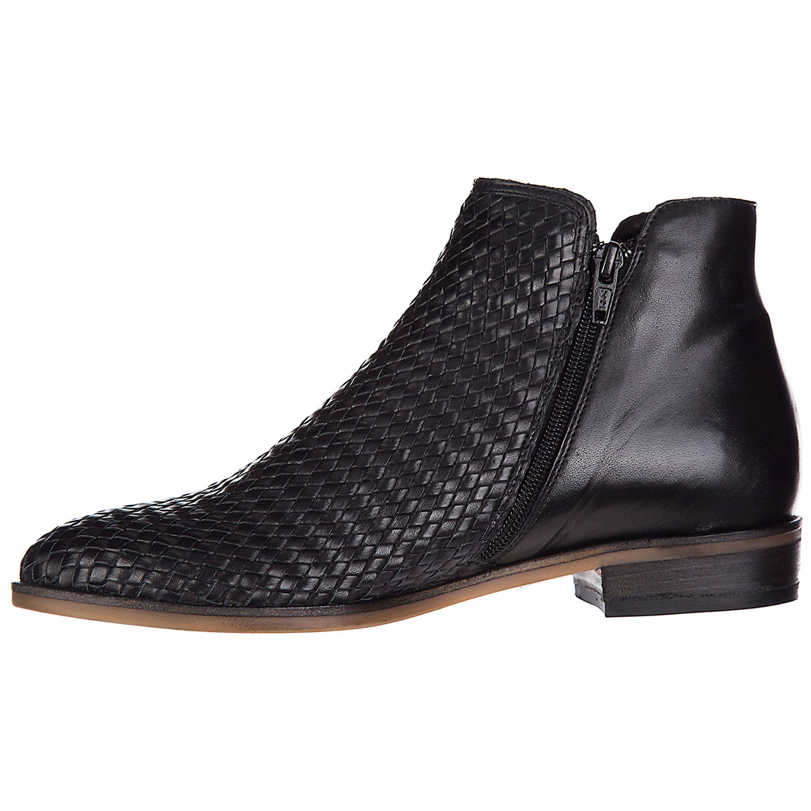Women's leather ankle boots booties kons