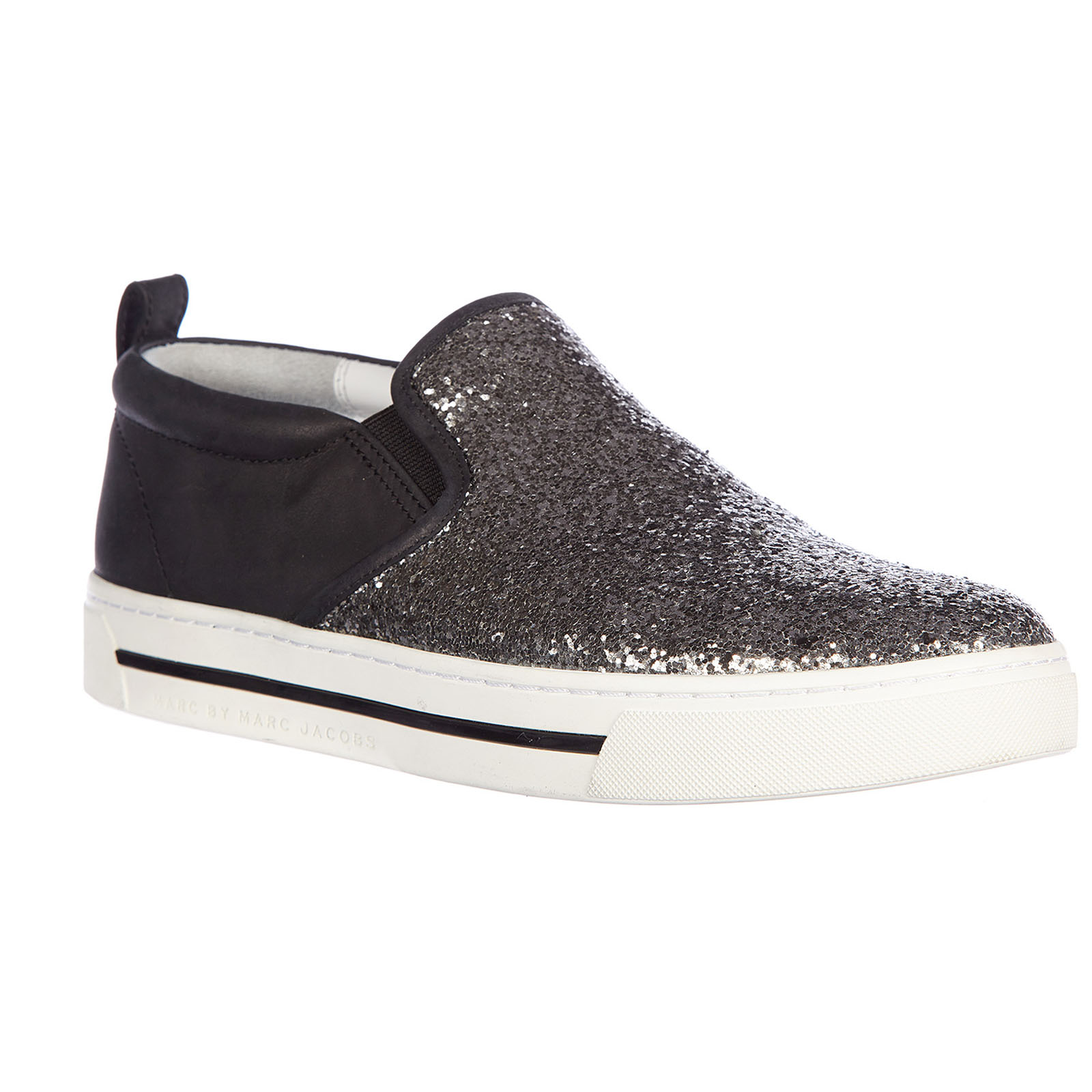 Slip on donna in pelle sneakers  sparkling