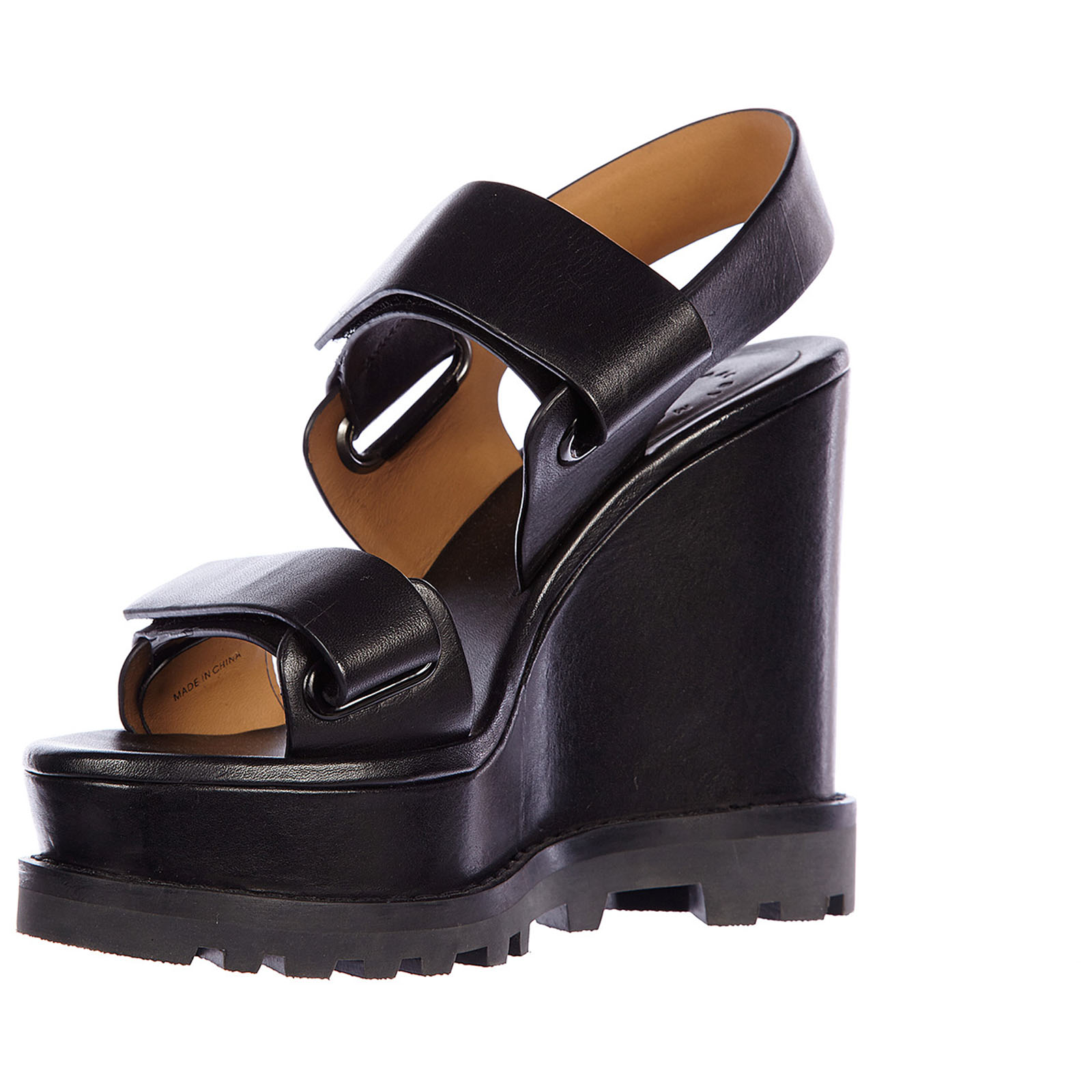 Women's leather shoes wedges sandals