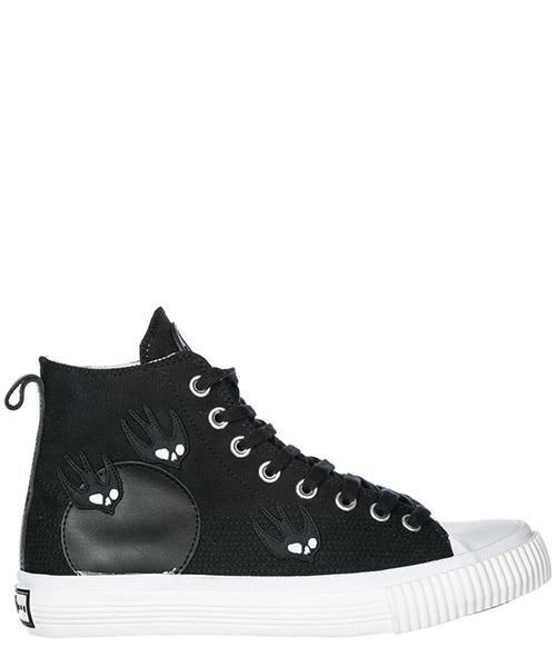 Sneakers alte MCQ Alexander McQueen Swallow Plimsoll 472454R11411000 nero