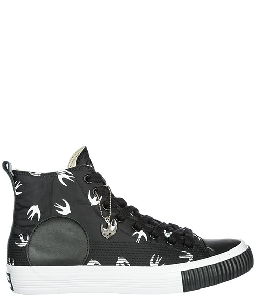 High top sneakers MCQ Alexander McQueen Swallow Plimsoll 472454R11591070 black