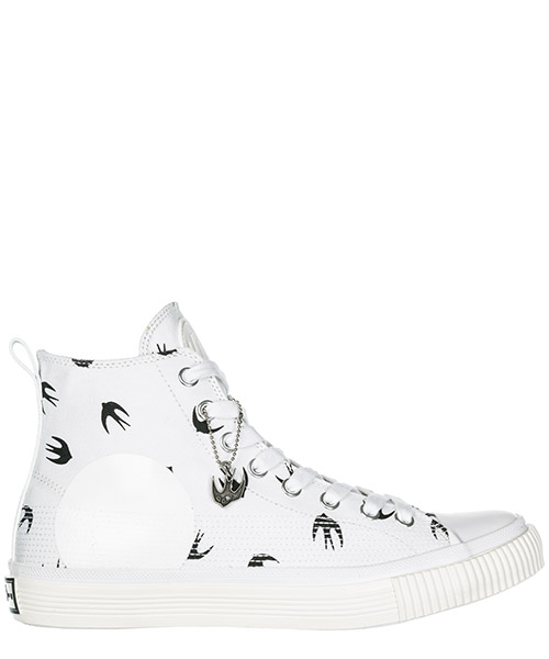 High top sneakers MCQ Alexander McQueen Plimsoll 472454R25589024 white - black