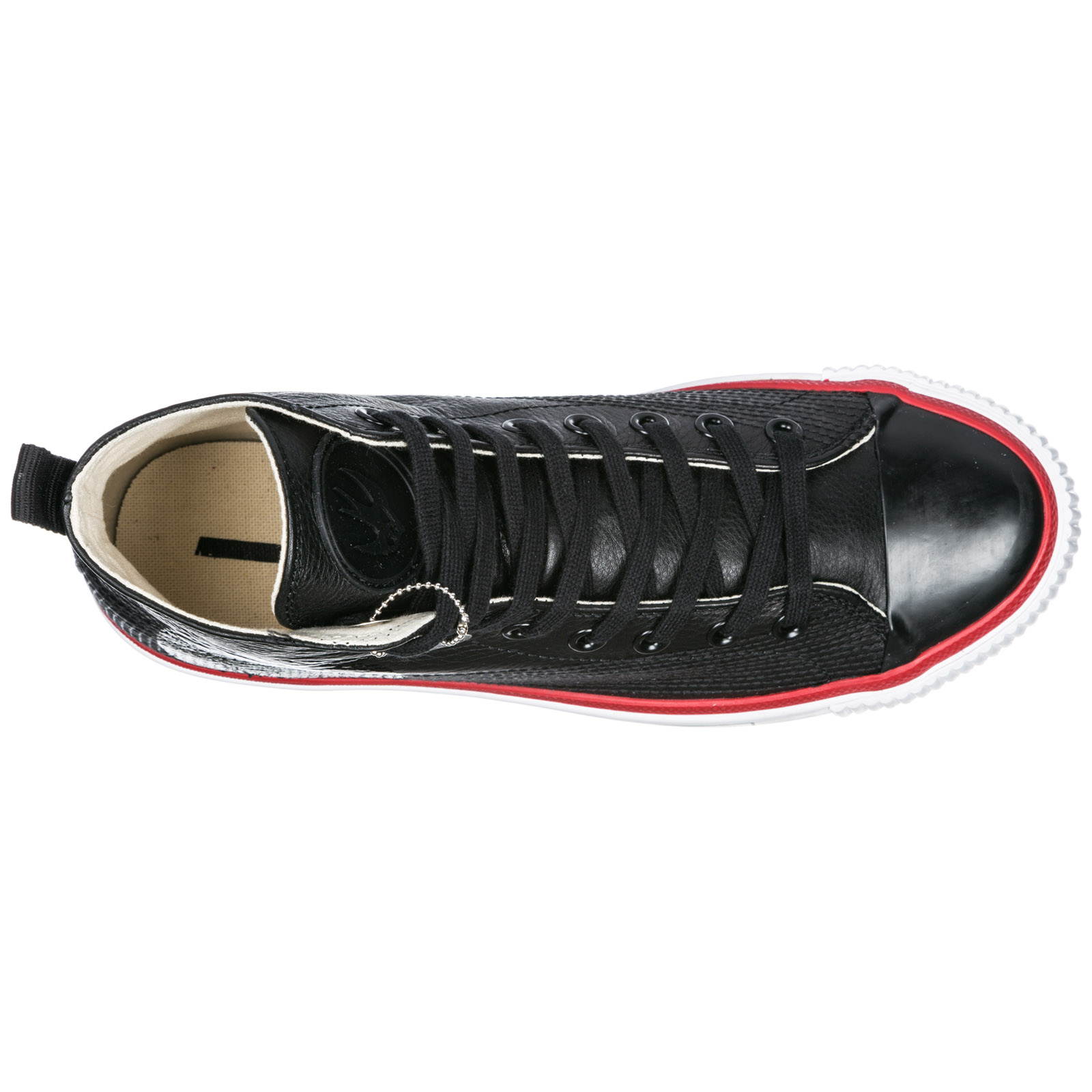 Men's shoes high top leather trainers sneakers plimsoll