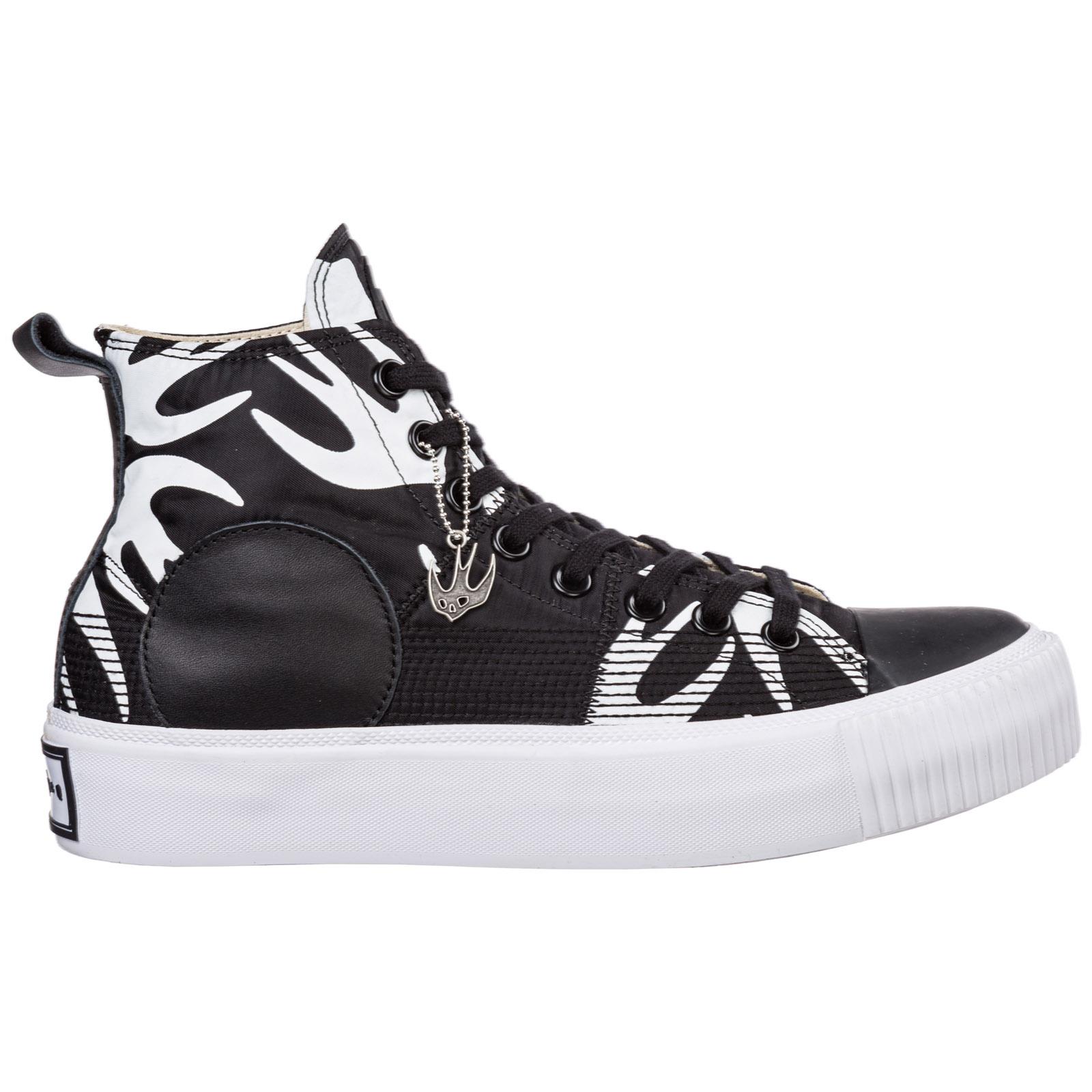 Scarpe sneakers alte uomo plimsoll platform