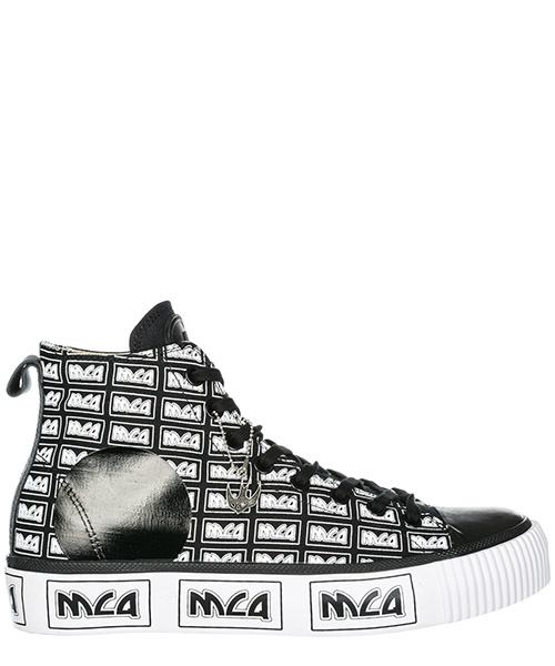 High top sneakers MCQ Alexander McQueen Plimsoll 543772R25541070 black - white