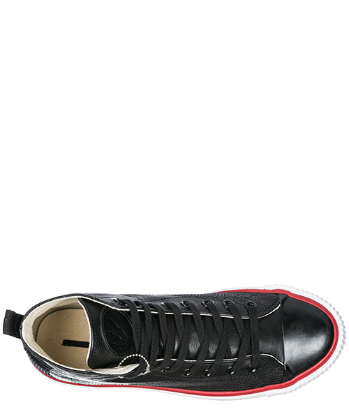 Herrenschuhe herren leder schuhe high sneakers plimsoll secondary image
