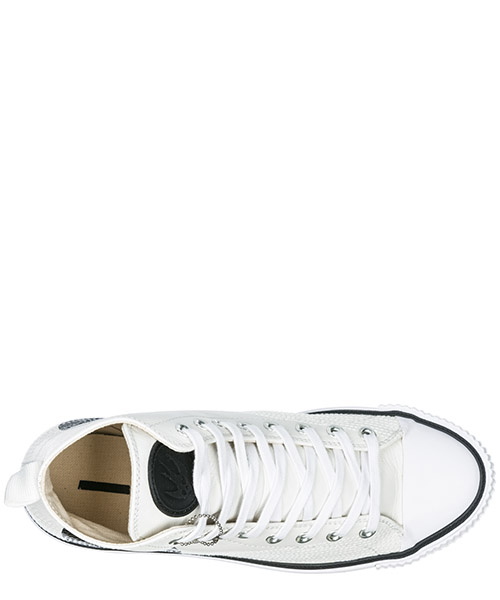 Chaussures baskets sneakers hautes homme en cuir plimsoll secondary image