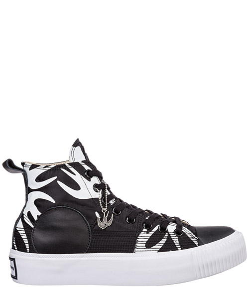 High-top sneakers MCQ Alexander McQueen Plimsoll Platform 543772R26071006 black - white