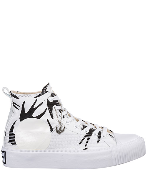 High-top sneakers MCQ Alexander McQueen Plimsoll Platform 543772R26089024 white / black