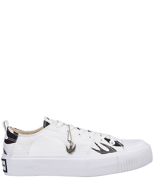 Sneaker MCQ Alexander McQueen Plimsoll Platform 543774R26089024 white / black