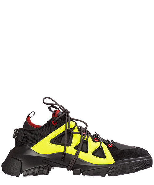 Zapatillas MCQ Alexander McQueen orbyt 573126r26341047 black/neon/multi