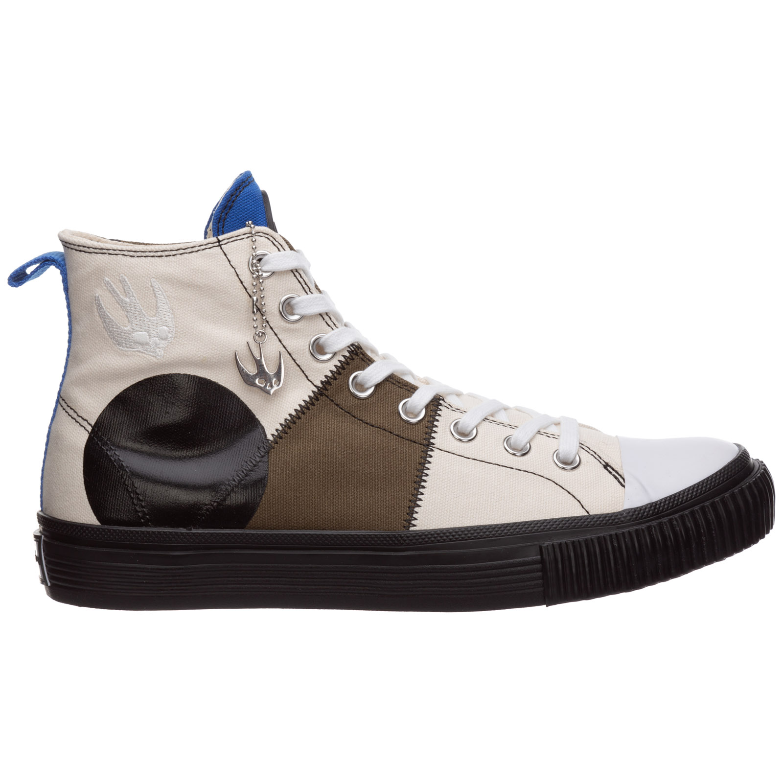 Mcq By Alexander Mcqueen MEN'S SHOES HIGH TOP LEATHER TRAINERS SNEAKERS SWALLOW CAPSULE
