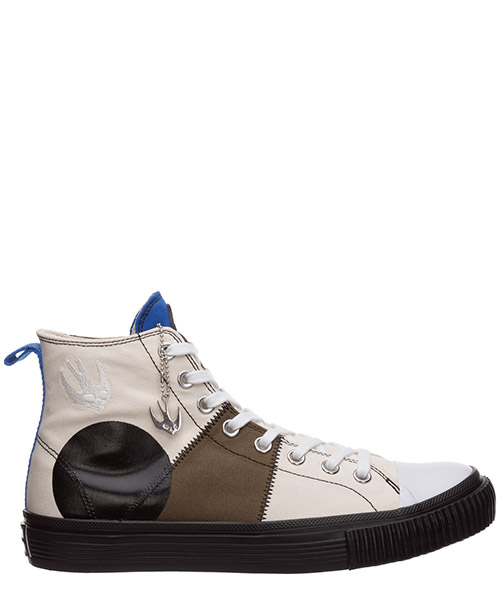 High-top sneakers McQ Swallow Swallow capsule 621914R26933076 khaki skate blue mix