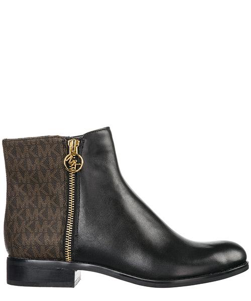 Demi-bottes Michael Kors Jaycie flat 40F8JAFE7L black / brown