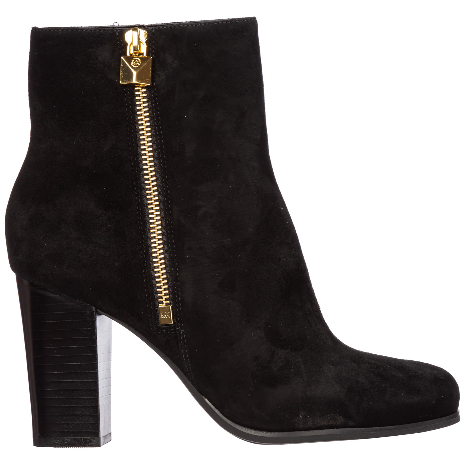 Michael Kors Boots WOMEN'S SUEDE HEEL ANKLE BOOTS BOOTIES FRENCHIE