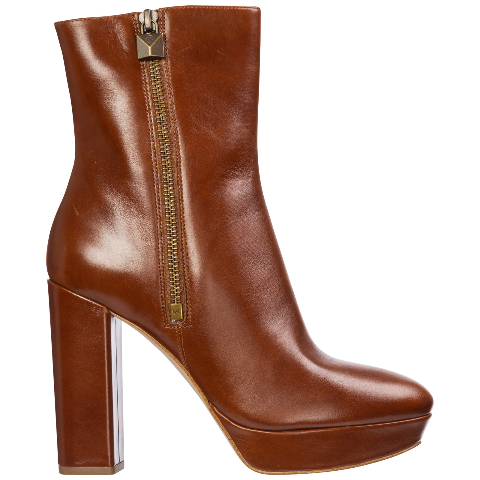 Michael Kors Boots WOMEN'S LEATHER HEEL ANKLE BOOTS BOOTIES FRENCHIE