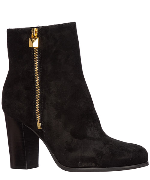 Women's suede heel ankle boots booties frenchie secondary image