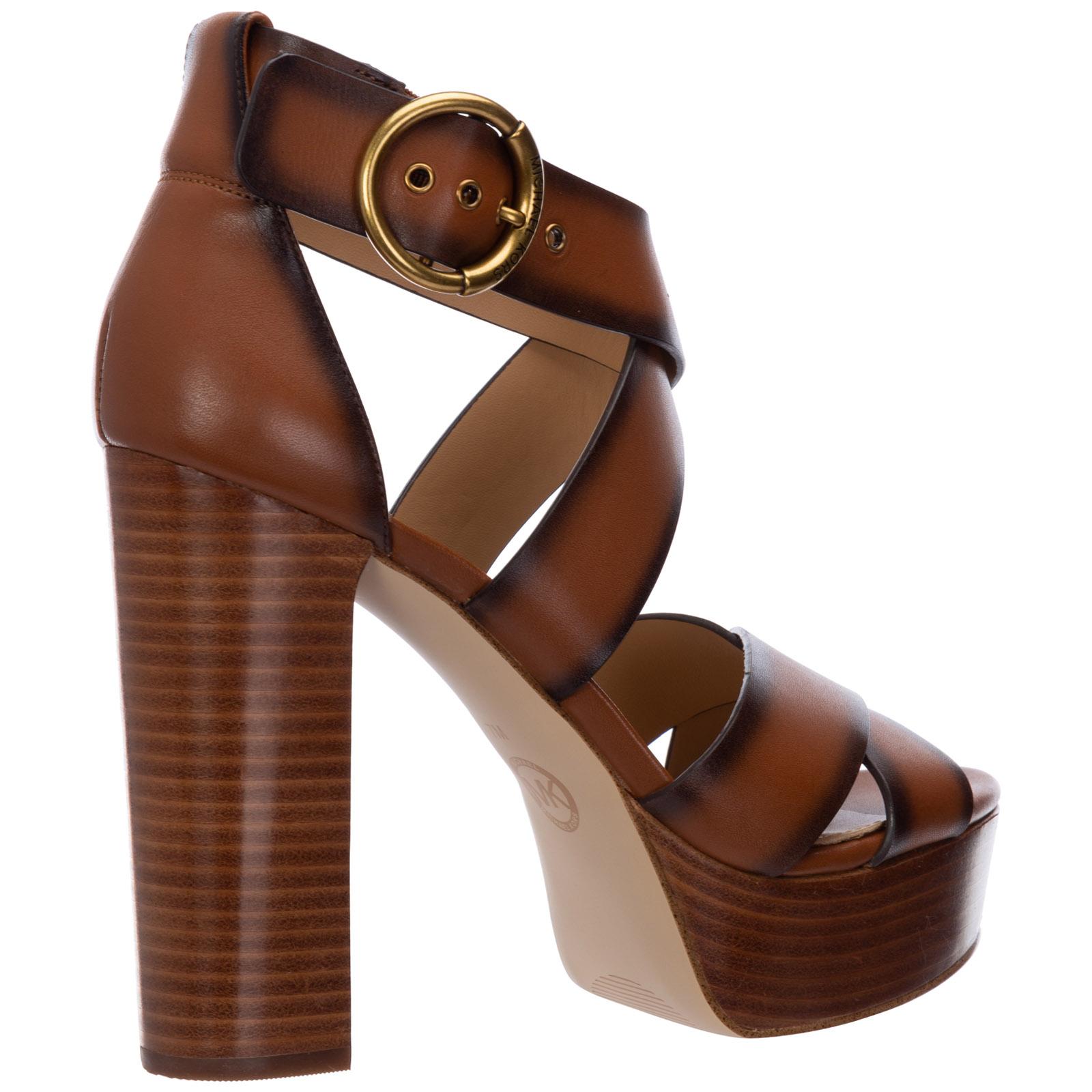 Women's leather platform sandals leia