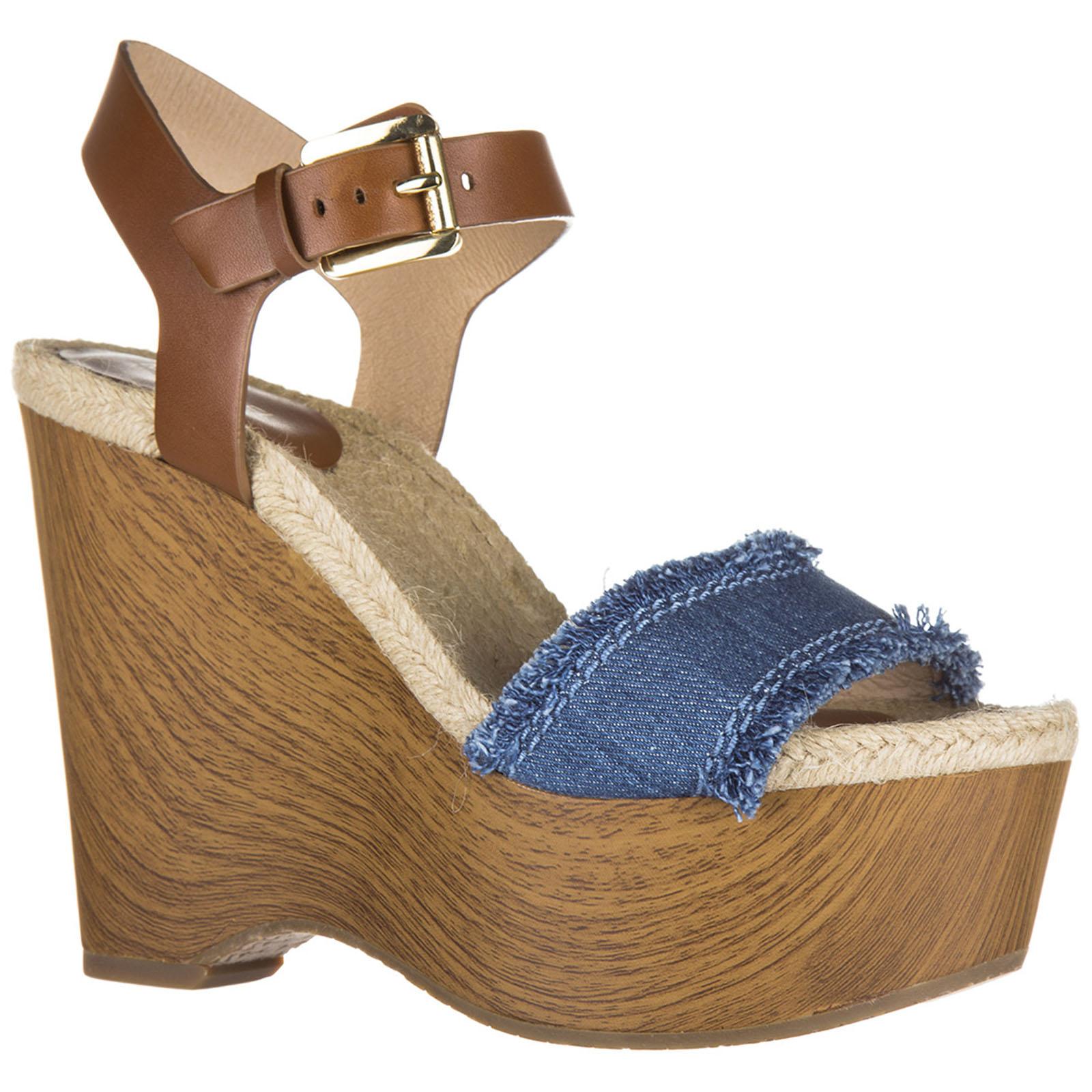 Damenschuhe sandals keilabsatz leder wedges leni