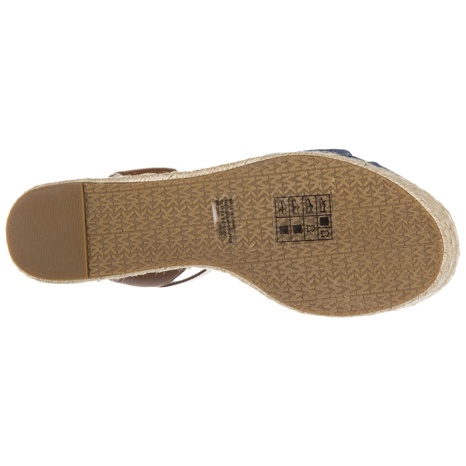 Zeppe sandali donna in cotone maxwell mid