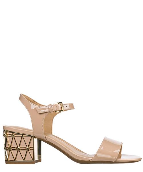 Women's leather heel sandals beekman