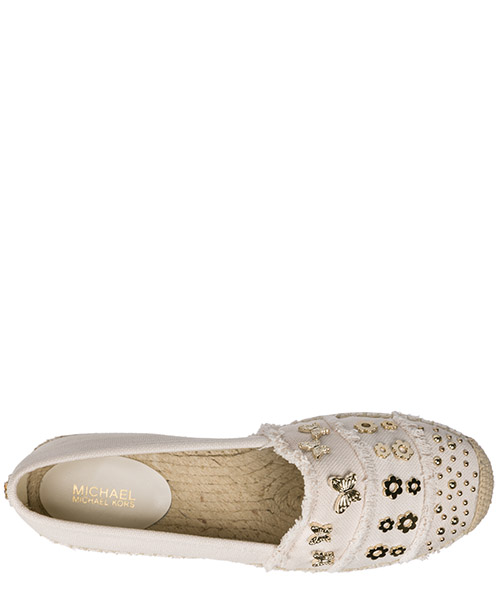 Women's cotton espadrilles slip on shoes tibby secondary image