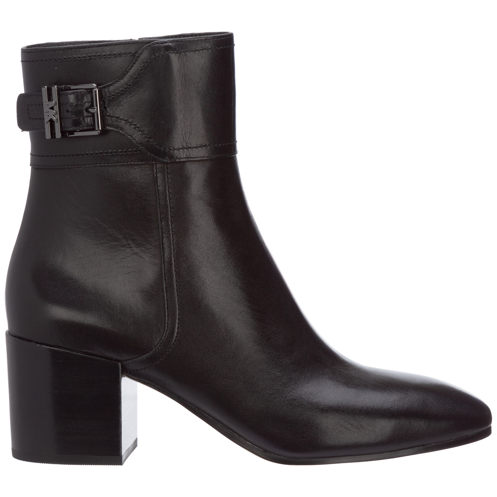 Michael Kors WOMEN'S LEATHER HEEL'ANKLE BOOTS BOOTIES KENYA