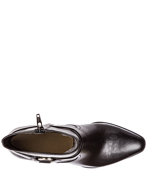 Botines de tacón botas mujer en piel secondary image