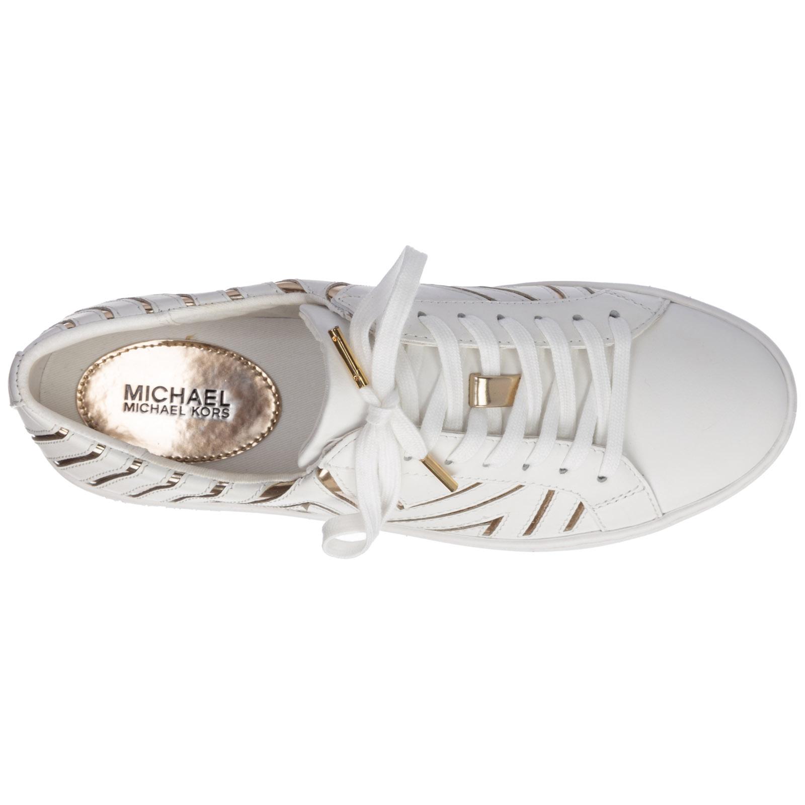 white mk shoes