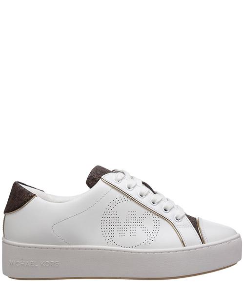 Zapatillas de cuña Michael Kors kirby 43T0KBFS1L272 optic white/brown
