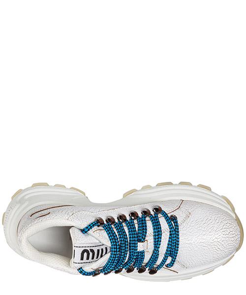 Scarpe sneakers donna in pelle craquelé secondary image