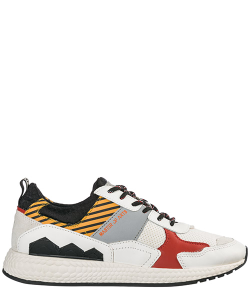 Sneakers Moa Master of Arts Futura M1017 white stripe - orange