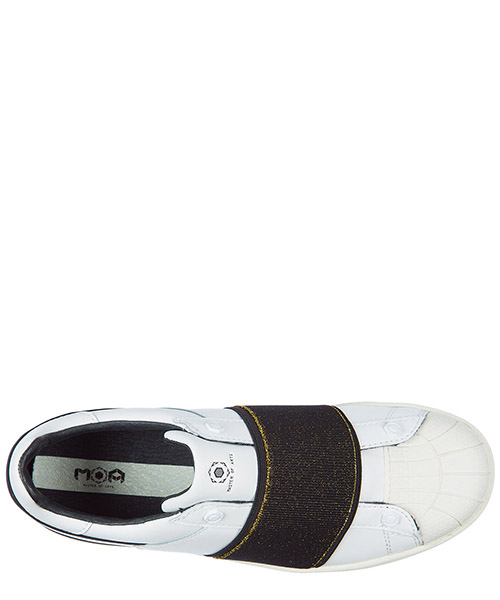 Damen leder slip on slipper sneakers secondary image