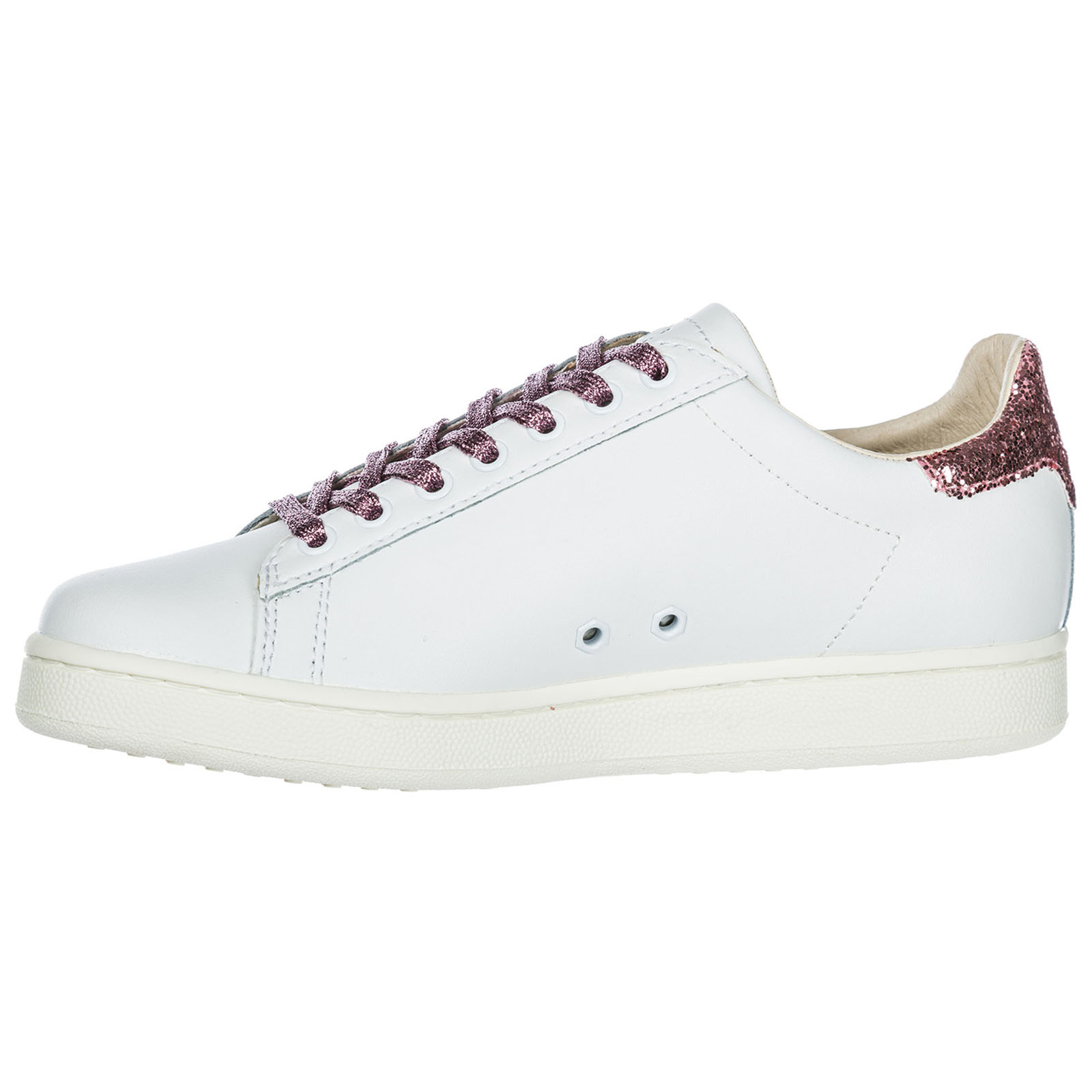 Women's shoes leather trainers sneakers flamingo
