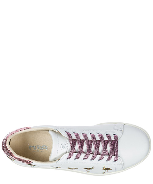 Chaussures baskets sneakers femme en cuir flamingo secondary image