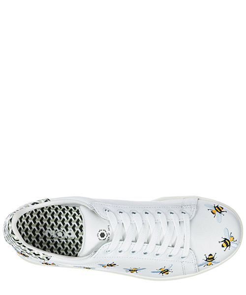 Women's shoes leather trainers sneakers tennis bee secondary image